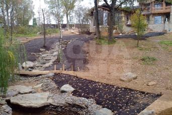 строительство ручья